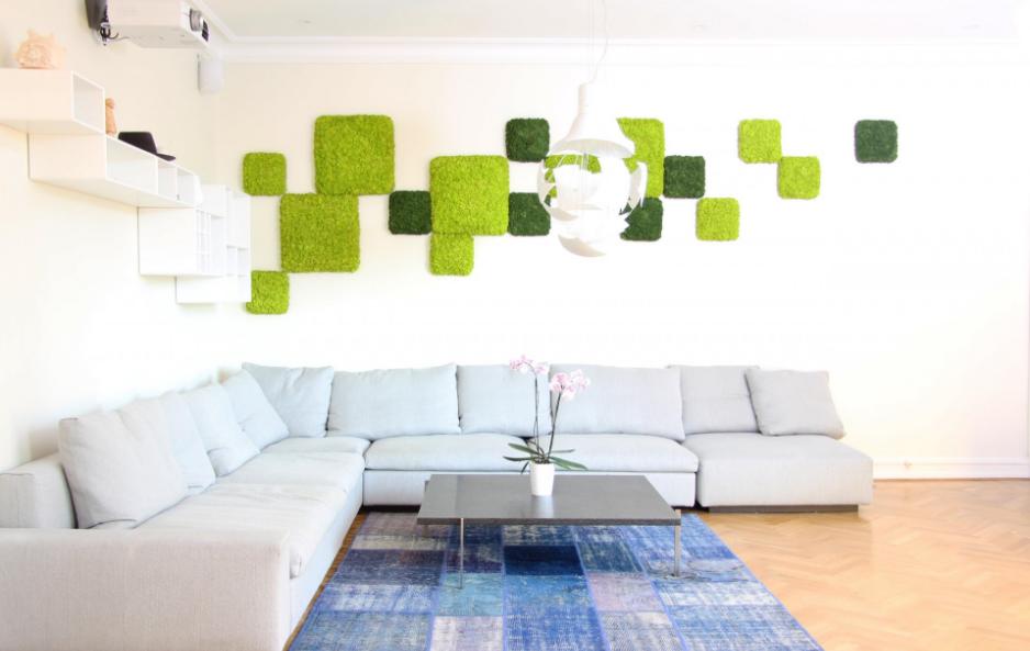 mousse v g tale pour mur nordgrona espace et mobilier. Black Bedroom Furniture Sets. Home Design Ideas